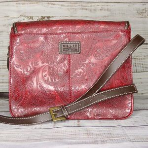 SOLD - Relic Crossbody Purse Faux Leather Paisley